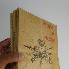 Militaria: LOTAZO MEMORIAL DE INFANTERIA 1925 COMPLETO REVISTAS LIBROS MILITARES . Lote 130228502