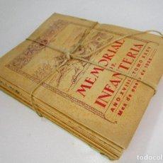 Militaria: LOTAZO . NUNCA APARECIDO! MEMORIAL DE INFANTERIA 1929 COMPLETO REVISTAS LIBROS MILITARES. Lote 130268310