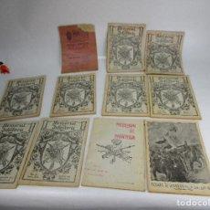 Militaria: LOTAZO . NUNCA APARECIDO! MEMORIAL DE INFANTERIA 1922 COMPLETO REVISTAS LIBROS MILITARES. Lote 130276614