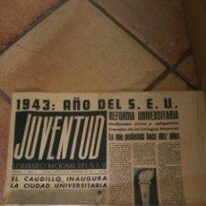 Militaria: PERIÓDICO SEMANARIO NACIONAL DEL SEU JUVENTUD NÚMERO ONCE 1943. Lote 130521332