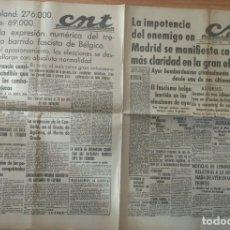 Militaria: CNT ASTURIAS, LEON Y PALENCIA 12 DE ABRIL 1937 GUERRA CIVIL ASTURIAS AVANCE GRADO, CASA DE CAMPO . Lote 130852244