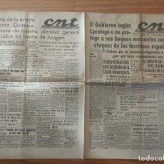 Militaria: CNT ASTURIAS, LEON Y PALENCIA 13 DE ABRIL 1937 GUERRA CIVIL GENERAL MIAJA, ARAGON SANTA QUITERIA. Lote 130852404