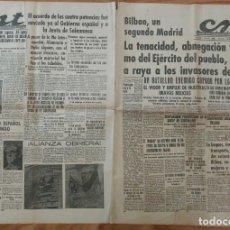 Militaria: CNT ASTURIAS, LEON Y PALENCIA 16 DE JUNIO 1937 GUERRA CIVIL EUZKADI, BILBAO, SINDICATO CONSTRUCCION. Lote 130853100