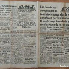 Militaria: CNT ASTURIAS, LEON Y PALENCIA 26 DE MAYO 1937 GUERRA CIVIL EUZKADI, ALVAREZ VAYO, MORÉ METALURGIA. Lote 130853200
