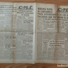 Militaria: CNT ASTURIAS, LEON Y PALENCIA 15 ABRIL 1937 GUERRA CIVIL BATALLA NAVAL, GENERAL MARTINEZ CABRERA. Lote 130853332