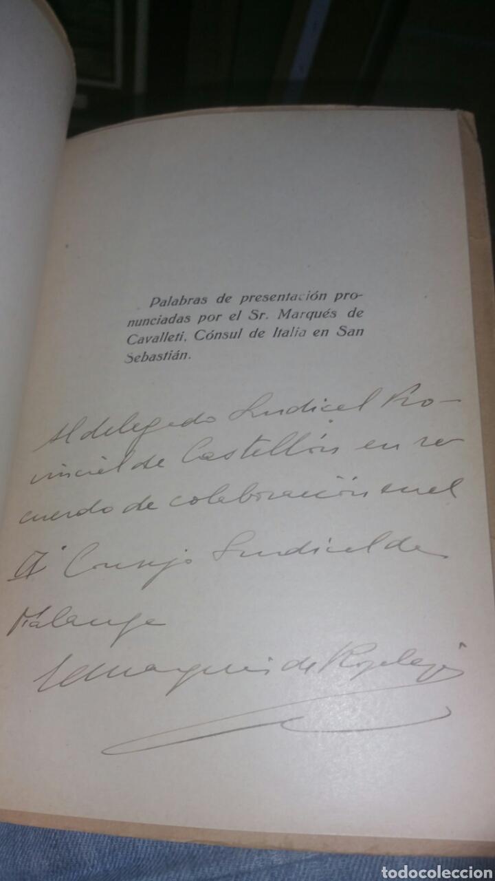Militaria: Realizaciones del fascismo la victoria del grano y la bonifica firma y dedicatoria de Antonio Urbina - Foto 2 - 130960947
