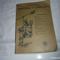 Militaria: MEMORIAL DE CABALLERIA.Nº 170.-MARZO-ABRIL 1933.-MADRID.CONCURSO HIPICO,TANQUES,CACERIAS MILITARES. Lote 133849546