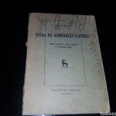 Militaria: VIDAS DE GENERALES ILUSTRES. Lote 134010538