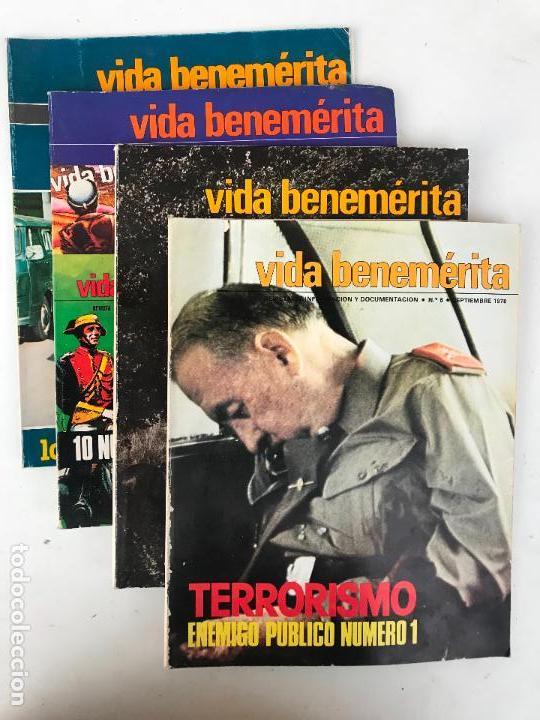 LOTE DE REVISTA DE GUARDIA CIVIL - VIDA BENEMERITA - AÑOS 70 (Militar - Revistas y Periódicos Militares)