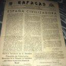 Militaria: ANTIGUO SEMANARIO RAFAGAS REGIMIENTO ARGEL NÚM 68 1942 DIVISIÓN AZUL ESPAÑOLA. Lote 135780370