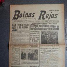 Militaria: BATALLA PUERTO CALATRAVEÑO CÓRDOBA JAVALAMBRE Y EL EBRO PERIÓDICO GUERRA CIVIL BOINAS ROJAS 24/09/38. Lote 135844802