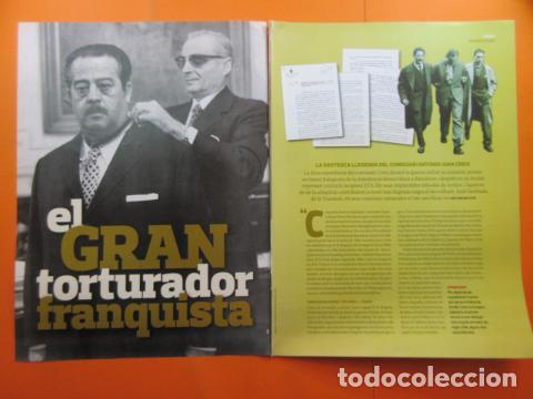 ARTICULO 2010 - EL GRAN TORTURADOR FRANQUISTA COMISARIO ANTONIO JUAN CREIX - 6 PAGINAS (Militar - Revistas y Periódicos Militares)