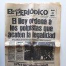 Militaria: GOLPE DE ESTADO 23F EL PERIÓDICO DE CATALUNYA 23 FEBRERO 1981. Lote 139668553