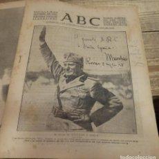 Militaria: ABC 28 DE SEPTIEMBRE DE 1937, ,22 PAGINAS, MUSSOLINI,RIBADESELLA,CANGAS DE ONIS, ETC... Lote 140030362
