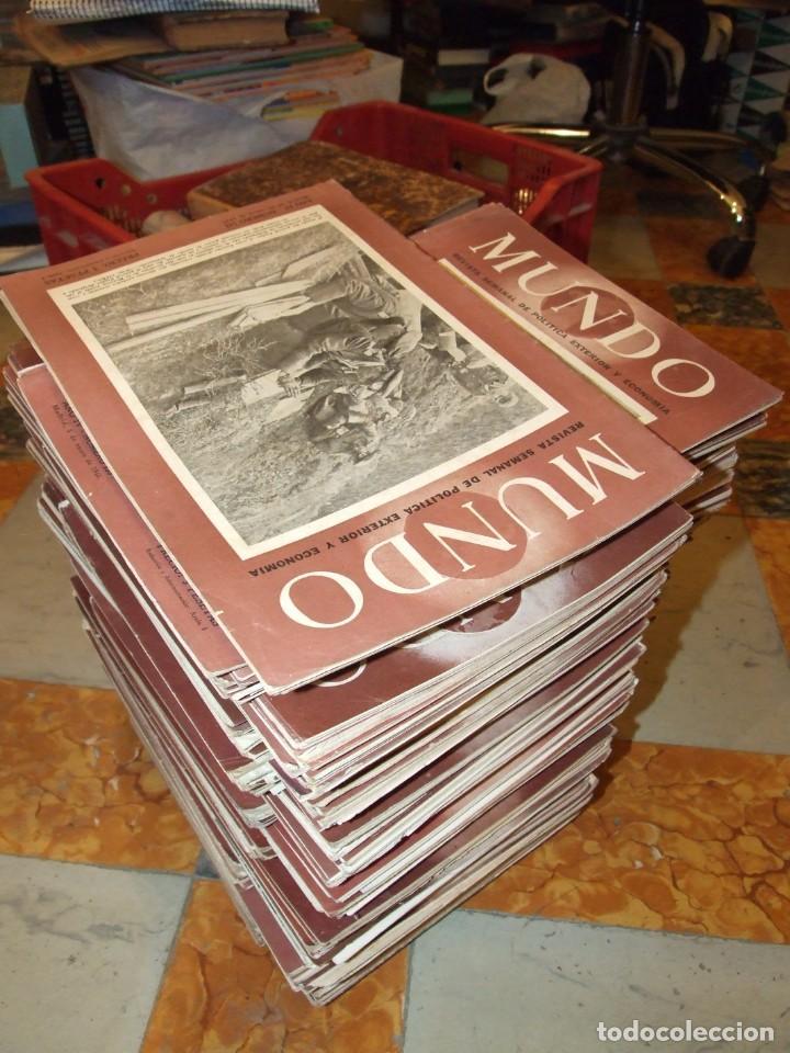 GRAN LOTE DE 153 REVISTAS MUNDO AÑO 1944 - PERFECTO ESTADO CASI TODAS (Militar - Revistas y Periódicos Militares)