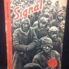 Militaria: REVISTA SIGNAL, 1º NUMERO DE JANVIER 1942, BELGICA. Lote 140683842