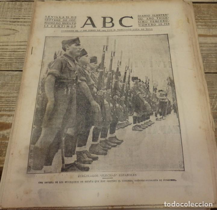 ABC 21 DE SEPTIEMBRE DE 1937, 22 PAGINAS,FLECHAS EN BERLIN, FRENTE DE ASTURIAS, CORDOBA,,ETC (Militar - Revistas y Periódicos Militares)