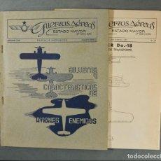 Militaria: LOTE DE DOS NÚMEROS DE LA REVISTA DE FUERZAS AÉREAS DEL ESTADO MAYOR.ESPECIAL 1938. Lote 140903478