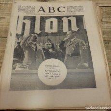 Militaria: ABC 28 DE OCTUBRE DE 1938, 18 PAGINAS, HITLER, GUARDACOSTA ALAVA,MADRID,ETC. Lote 141011318