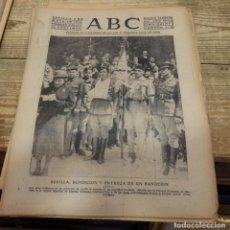 Militaria: ABC 3 DE MAYO DE 1939, 18 PAGINAS, SEVILLA ENTREGA BANDERIN FALANGE,,ETC. Lote 141117286