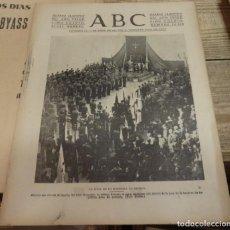 Militaria: ABC 12 DE MARZO DE 1938, SEVILLA,18 PAGINAS,DOS HERMANAS, BILBAO,PARTE DE GUERRA, ETC... Lote 205884840