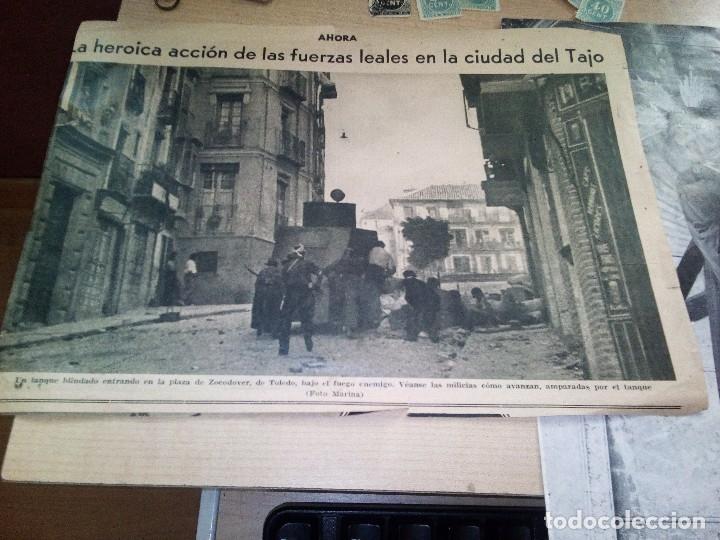 Militaria: RECORTE ORIGINAL DEL PERIODICO AHORA DE JULIO DE 1936 SOBRE UNA NOTICIA FALSA SOBRE EL ALCAZAR - Foto 2 - 142944630