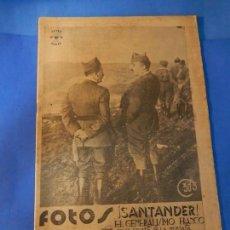 Militaria: FOTOS. SEMANARIO GRÁFICO DE REPORTAJES. Nº 27. 28 AGOSTO 1937.. Lote 143959754