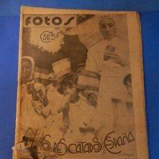 Militaria: FOTOS. SEMANARIO GRÁFICO DE REPORTAJES. Nº 25. 14 AGOSTO 1937.. Lote 144028974