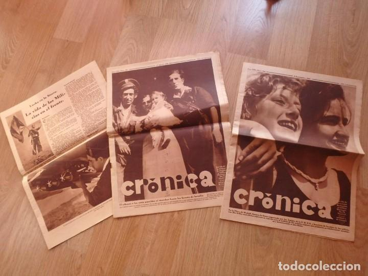 (JX-181267)TRES REVISTAS CRÓNICA , GUERRA CIVIL , AGOSTO , SEPTIEMBRE 1936 . (Militar - Revistas y Periódicos Militares)