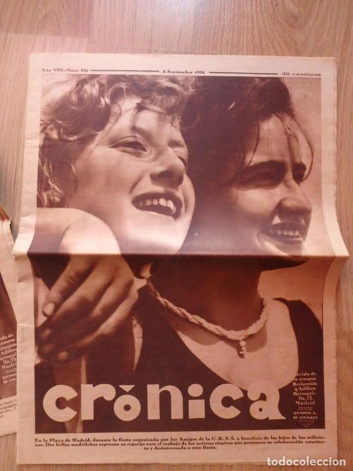 Militaria: (JX-181267)Tres revistas Crónica , Guerra Civil , Agosto , Septiembre 1936 . - Foto 2 - 145113590
