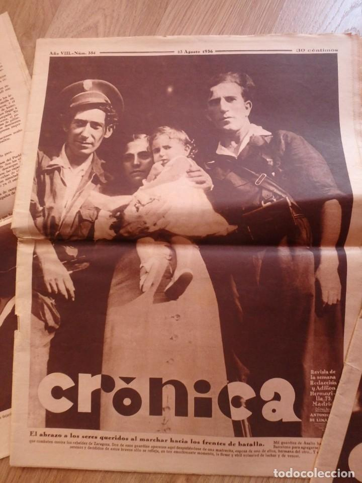 Militaria: (JX-181267)Tres revistas Crónica , Guerra Civil , Agosto , Septiembre 1936 . - Foto 4 - 145113590