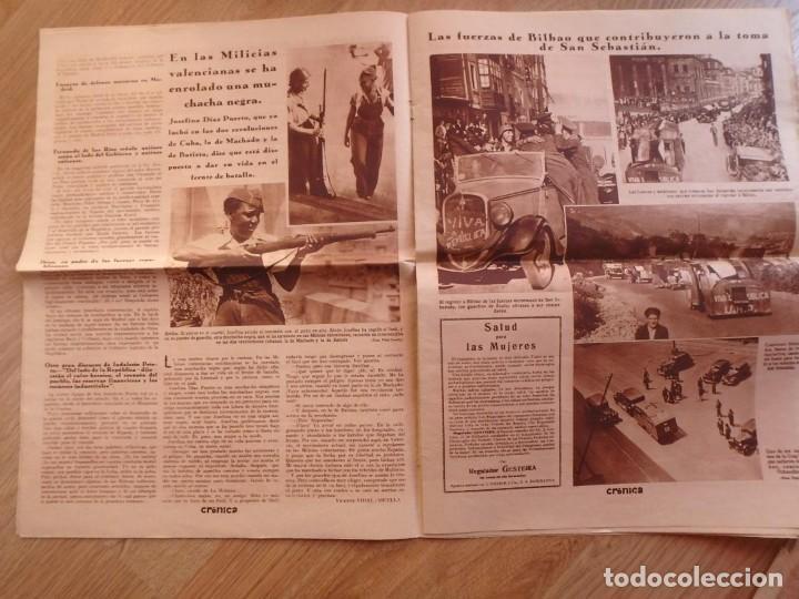 Militaria: (JX-181267)Tres revistas Crónica , Guerra Civil , Agosto , Septiembre 1936 . - Foto 8 - 145113590