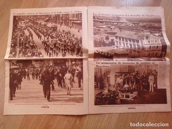 Militaria: (JX-181267)Tres revistas Crónica , Guerra Civil , Agosto , Septiembre 1936 . - Foto 12 - 145113590