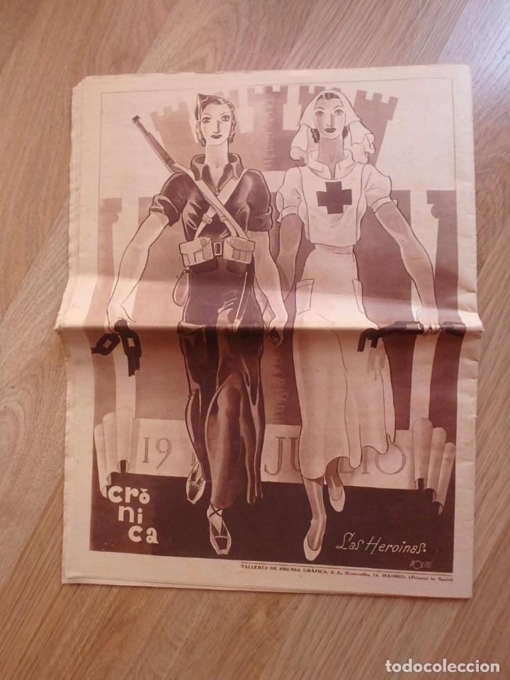 Militaria: (JX-181267)Tres revistas Crónica , Guerra Civil , Agosto , Septiembre 1936 . - Foto 13 - 145113590