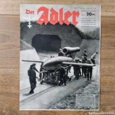 Militaria: REVISTA DER ADLER Nº 17 DE 1944 !! COHETES V1 BOMBAS!! MUY RARO MAGAZINE PROPAGANDA. Lote 146878557