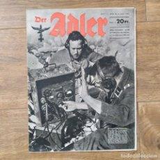 Militaria: REVISTA DER ADLER Nº 12 DE 1944 ! RARO MAGAZINE PROPAGANDA. Lote 146880202