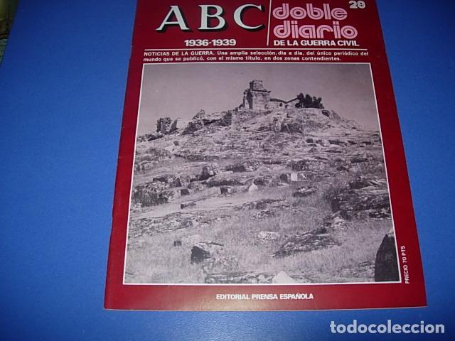 ABC. DOBLE DIARIO DE LA GUERRA CIVIL. FASCICULO. 28 (Militar - Revistas y Periódicos Militares)