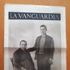 Militaria: PERIÓDICO DE DOS HOJAS LA VANGUARDIA, 1 DE JULIO DE 1937. Lote 1629322