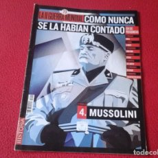 Militaria: REVISTA MAGAZINE FASCÍCULO HISTORIA GUERRA MUNDIAL WORLD WAR II PERSONAJES BENITO MUSSOLINI CRETA.... Lote 147613950
