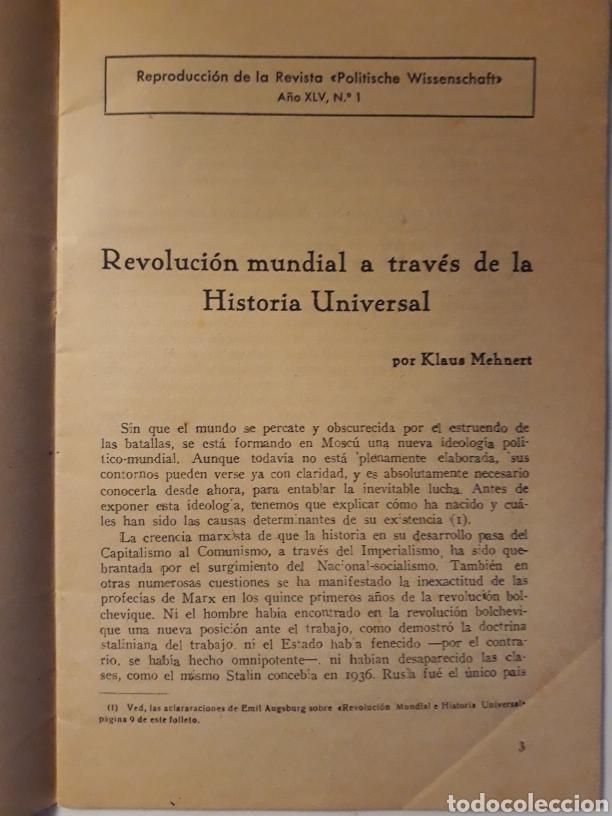 Militaria: EUROPA Y EL MUNDO N.2 REPRODUCCIÓN DE LA REVISTA POLITISCHE WISSENSCHAFT 1945 - Foto 2 - 147755882