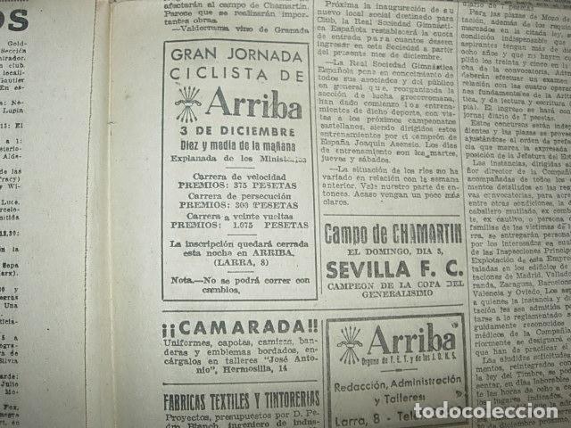 Militaria: Arriba nº 210 Viernes 1 de Diciembre 1939 Jose Antonio reposa en la piedra augusta del Escorial - Foto 2 - 149310434