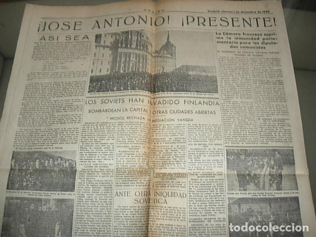 Militaria: Arriba nº 210 Viernes 1 de Diciembre 1939 Jose Antonio reposa en la piedra augusta del Escorial - Foto 3 - 149310434