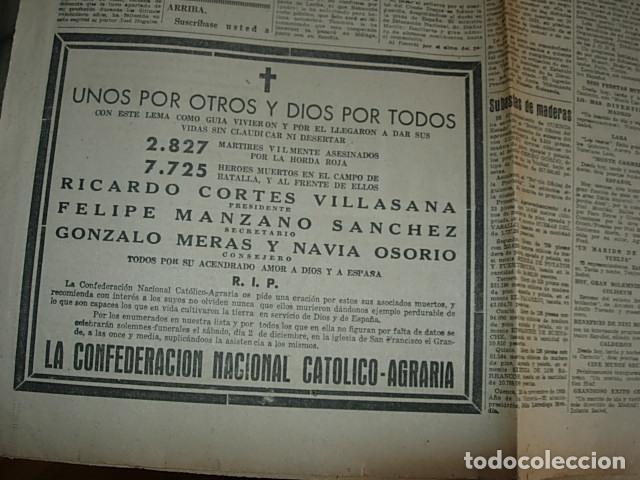 Militaria: Arriba nº 210 Viernes 1 de Diciembre 1939 Jose Antonio reposa en la piedra augusta del Escorial - Foto 6 - 149310434