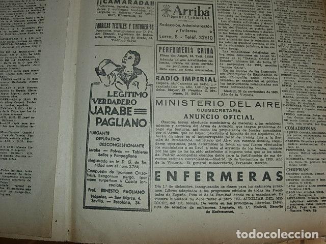 Militaria: Arriba nº 210 Viernes 1 de Diciembre 1939 Jose Antonio reposa en la piedra augusta del Escorial - Foto 7 - 149310434