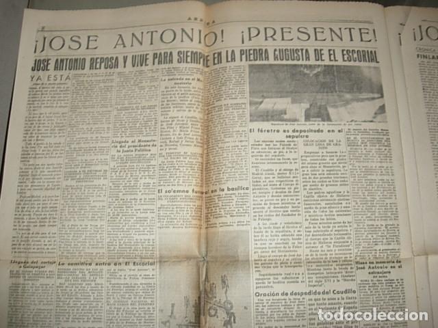 Militaria: Arriba nº 210 Viernes 1 de Diciembre 1939 Jose Antonio reposa en la piedra augusta del Escorial - Foto 9 - 149310434
