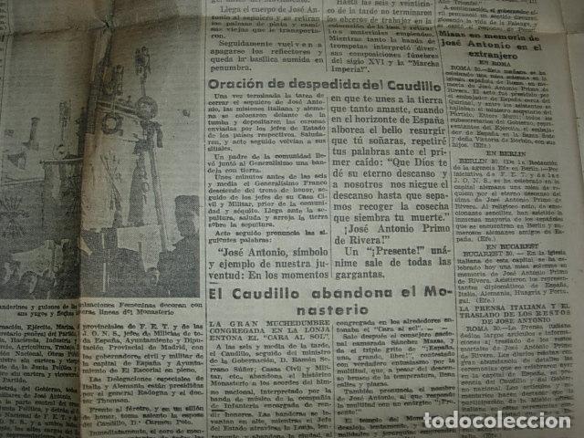 Militaria: Arriba nº 210 Viernes 1 de Diciembre 1939 Jose Antonio reposa en la piedra augusta del Escorial - Foto 10 - 149310434
