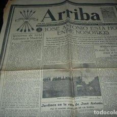 Militaria: ARRIBA Nº 208 MIERCOLES 29 DE NOVIEMBRE DE 1939 EN PORTADA JOSE ANTONIO ESTA ENTRE NOSOTROS. Lote 149354390