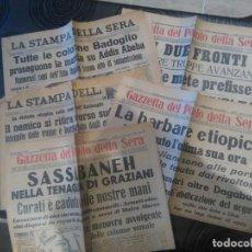 Militaria: DIARIOS ITALIANOS DE 1936. Lote 149847842