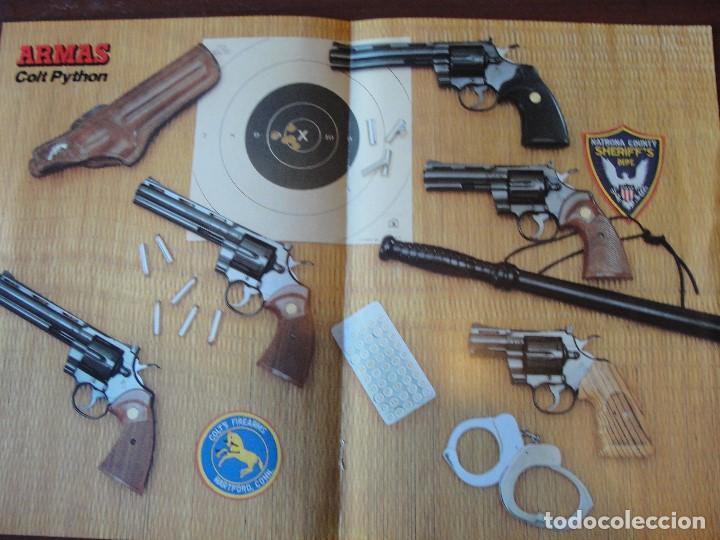 POSTER COLT PYTHON - DESPIECE Y FICHA TECNICA EN EL REVERSO - SIN USAR - ENVIO GRATIS - ARMAS (Militar - Revistas y Periódicos Militares)
