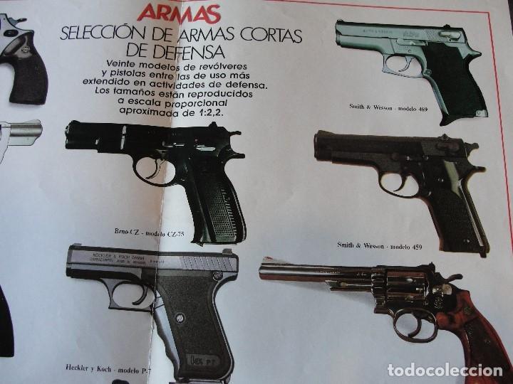 Militaria: SUPER POSTER ARMAS CORTAS - 50 X 40 CMS SIN USAR - ENVIO GRATIS - ABRE PARA MAS FOTOS - Foto 4 - 151131354